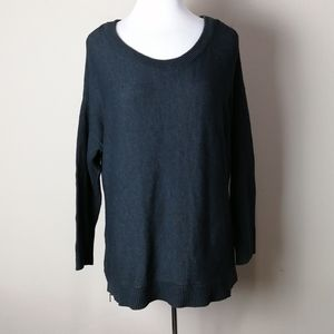Lane Bryant dark gray sweater with side zippers
